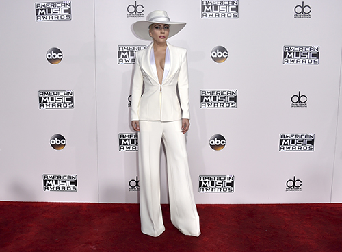 <div class='meta'><div class='origin-logo' data-origin='AP'></div><span class='caption-text' data-credit='Jordan Strauss/Invision/AP'>Lady Gaga arrives at the American Music Awards at the Microsoft Theater on Sunday, Nov. 20, 2016, in Los Angeles.</span></div>