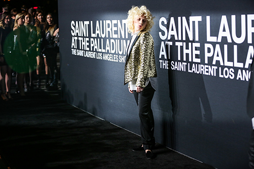 <div class='meta'><div class='origin-logo' data-origin='AP'></div><span class='caption-text' data-credit='Rich Fury/Invision/AP'>Lady Gaga arrives at Saint Laurent at the Palladium at the Hollywood Palladium on Wednesday, Feb. 10, 2016, in Los Angeles.</span></div>