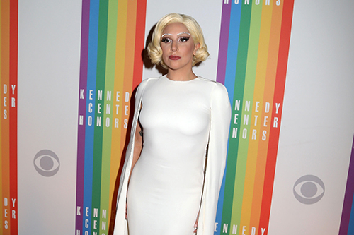 <div class='meta'><div class='origin-logo' data-origin='AP'></div><span class='caption-text' data-credit='Greg Allen/Invision/AP'>Lady Gaga attends the 37th Annual Kennedy Center Honors at The Kennedy Center Hall of States in Washington.</span></div>