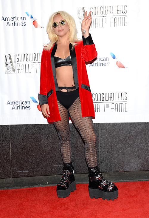 <div class='meta'><div class='origin-logo' data-origin='AP'></div><span class='caption-text' data-credit='Evan Agostini/Invision/AP'>Lady Gaga attends the 46th Annual Songwriters Hall 0f Fame Induction and Awards Gala at the Marriott Marquis on Thursday, June 18, 2015, in New York.</span></div>