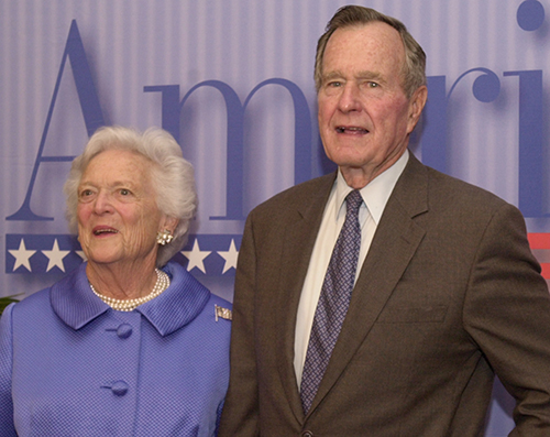 <div class='meta'><div class='origin-logo' data-origin='AP'></div><span class='caption-text' data-credit='AP Photo/Osamu Honda'>Former President George Bush and his wife Barbara pose for photographers prior to AmeriCares Celebration of Hope, 20th Anniversary Gala in New York Tuesday, May 21, 2002.</span></div>
