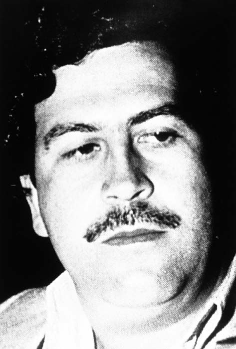 <div class='meta'><div class='origin-logo' data-origin='none'></div><span class='caption-text' data-credit='AP Photo/ S  RO. XMB'>Colombian cocaine kingpin Pablo Emilio Escobar is shown in an undated photo.</span></div>