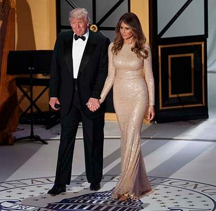 <div class='meta'><div class='origin-logo' data-origin='AP'></div><span class='caption-text' data-credit='AP'>Melania Trump in Washington, D.C. for Inauguration Day</span></div>