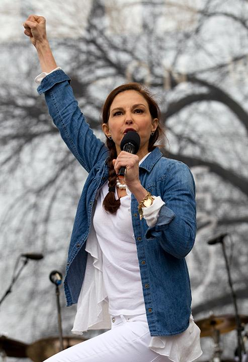<div class='meta'><div class='origin-logo' data-origin='AP'></div><span class='caption-text' data-credit='AP Photo/Jose Luis Magana'>Actress Ashley Judd performs during the Women's March on Washington, Saturday, Jan. 21, 2017 in Washington.</span></div>