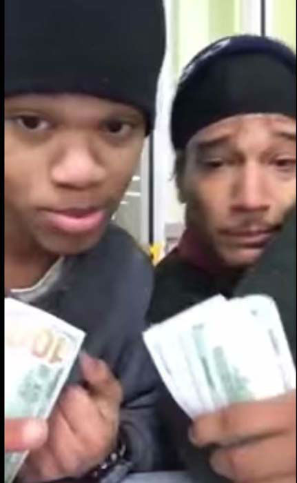 <div class='meta'><div class='origin-logo' data-origin='none'></div><span class='caption-text' data-credit='KTRK Photo/ YouTube'>Dillan Thompson and Dorian Walker were seen on YouTube with thousands of dollars in cash, claiming the cash was from a good night's &#34;hustle.&#34;</span></div>