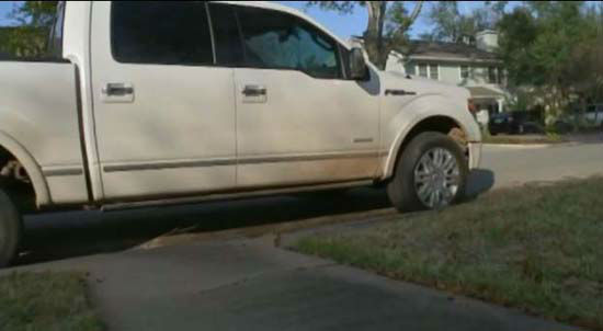 <div class='meta'><div class='origin-logo' data-origin='none'></div><span class='caption-text' data-credit='KTRK Photo/ YouTube'>The money and electronics were allegedly stolen from this pickup truck.</span></div>