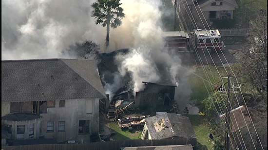 <div class='meta'><div class='origin-logo' data-origin='none'></div><span class='caption-text' data-credit='KTRK Photo/ KTRK'>Aerial images of Heights home that went up in flames on Friday, Jan. 22, 2016.</span></div>