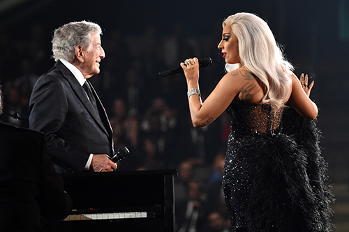 <div class='meta'><div class='origin-logo' data-origin='AP'></div><span class='caption-text' data-credit='Photo by John Shearer/Invision/AP'>In an unexpected departure from her trailblazing pop act, Gaga teamed up with legendary crooner Tony Bennett for a 2014 album of jazz duets. Could the halftime show go jazzy?</span></div>