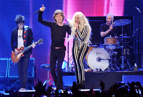<div class='meta'><div class='origin-logo' data-origin='AP'></div><span class='caption-text' data-credit='Evan Agostini/Invision/AP'>Call it a genre collision of epic proportions. A Gaga-Rolling Stones collaboration would have something for everybody.</span></div>
