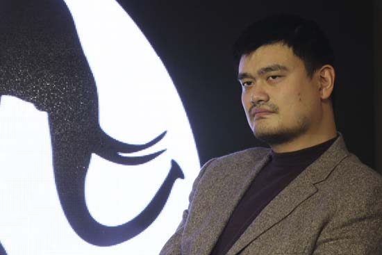 """<div class=""""meta image-caption""""><div class=""""origin-logo origin-image ktrk""""><span>KTRK</span></div><span class=""""caption-text"""">Former NBA star Yao Ming attends WildAid media event of an ivory reduction campaign in Shanghai, China, Friday, Dec. 6, 2013. (AP Photo/Eugene Hoshiko) (AP)</span></div>"""