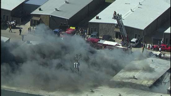 <div class='meta'><div class='origin-logo' data-origin='none'></div><span class='caption-text' data-credit='KTRK Photo/ KTRK SkyEyeHD'>Aerial image captures a southwest Houston warehouse complex on fire on February 9, 2016.</span></div>