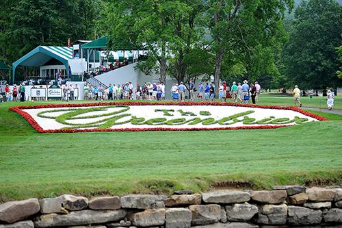 <div class='meta'><div class='origin-logo' data-origin='AP'></div><span class='caption-text' data-credit='AP Photo/Chris Tilley'>Looking back at the tee box on the 18th hole. During the first round of the Greenbrier Classic golf tournament at the Greenbrier Resort.</span></div>