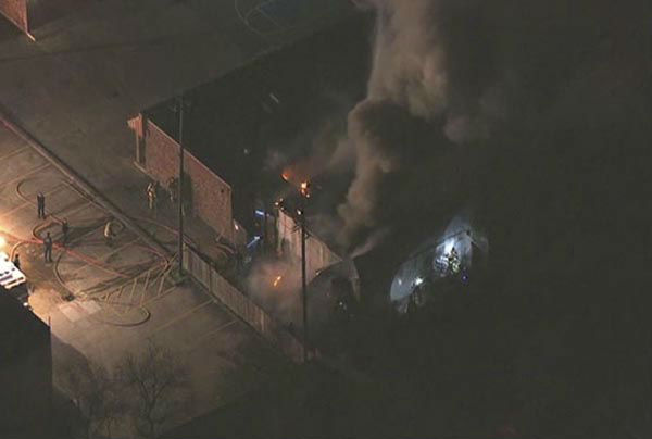 <div class='meta'><div class='origin-logo' data-origin='none'></div><span class='caption-text' data-credit='KTRK Photo'>Firefighters worked to put out flames that broke out at an Islamic institute in southeast Houston</span></div>