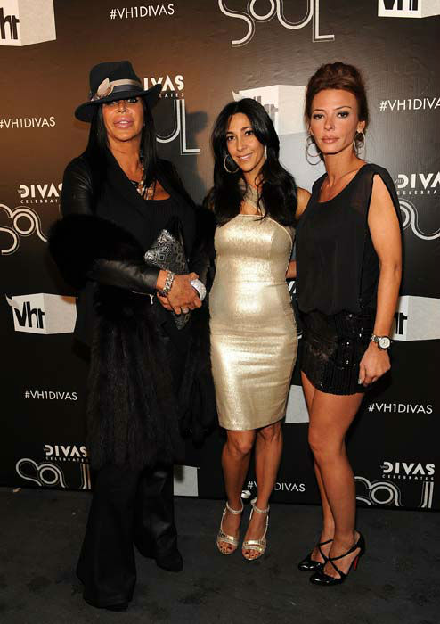 <div class='meta'><div class='origin-logo' data-origin='none'></div><span class='caption-text' data-credit='AP Photo/ Frank Micelotta'>Angela &#34;Big Ang&#34; Raiola, Carla Facciolo and Drita D'avanzo of &#34;Mob Wives&#34; arrive at &#34;VH1 Divas Celebrates Soul&#34;</span></div>
