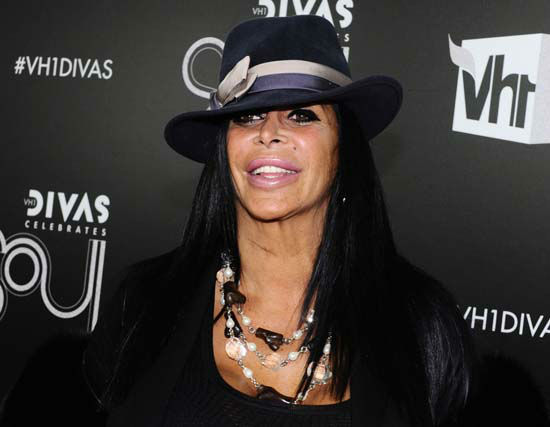 <div class='meta'><div class='origin-logo' data-origin='none'></div><span class='caption-text' data-credit='AP Photo/ Charles Sykes'>Angela Raiola, better known as Big Ang, arrives at &#34;VH1 Divas Celebrates Soul&#34; in New York</span></div>