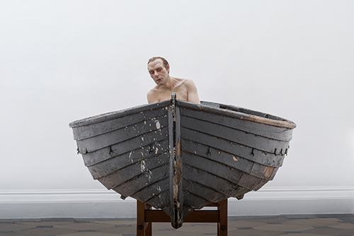 "<div class=""meta image-caption""><div class=""origin-logo origin-image ktrk""><span>KTRK</span></div><span class=""caption-text"">Ron Mueck, Man in a Boat, 2002, mixed media, Courtesy Anthony d?Offay, London. © Ron Mueck</span></div>"