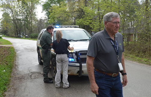 <div class='meta'><div class='origin-logo' data-origin='none'></div><span class='caption-text' data-credit='PolkCountyToday.com'>Polk County Sheriff Ken Hammack arrived to survey the scene.</span></div>