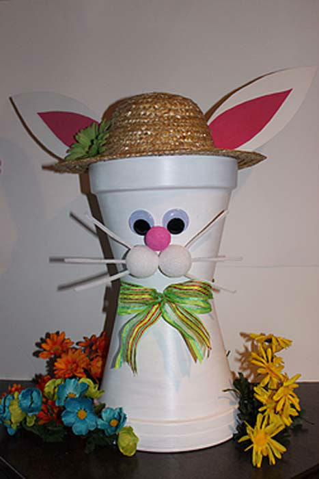 Diy Clay Pot Easter Bunny And Chick Abc13 Com