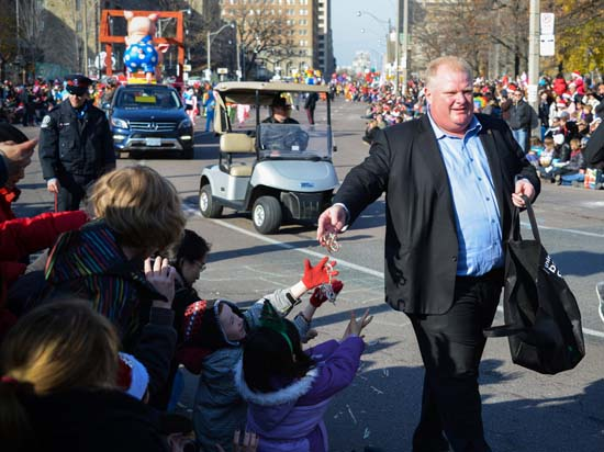"<div class=""meta image-caption""><div class=""origin-logo origin-image ktrk""><span>KTRK</span></div><span class=""caption-text"">Mayor Rob Ford runs down the street during the 108th Santa Claus Parade in Toronto, Canada on November 18, 2012 (Shutterstock/Canadapanda)</span></div>"