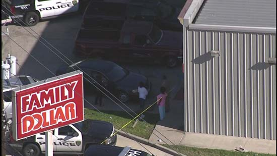 "<div class=""meta image-caption""><div class=""origin-logo origin-image ktrk""><span>KTRK</span></div><span class=""caption-text"">An aerial image of a northwest Houston Family Dollar store where one person has died after a robbery (KTRK)</span></div>"