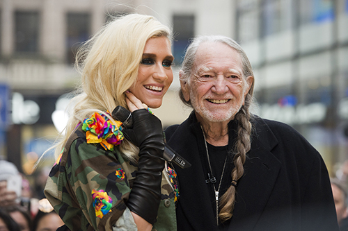 "<div class=""meta image-caption""><div class=""origin-logo origin-image ap""><span>AP</span></div><span class=""caption-text"">Ke$ha and Willie Nelson appear on NBC's ""Today"" show on Tuesday, Nov. 20, 2012 in New York. (Photo by Charles Sykes/Invision/AP)</span></div>"