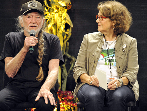 "<div class=""meta image-caption""><div class=""origin-logo origin-image ap""><span>AP</span></div><span class=""caption-text"">Willie Nelson and Farm Aid executive director Carolyn Mugar talk with reporters during a press conference prior to the start of the Farm Aid 2013 concert, Saturday, Sept. 21, 2013. (AP)</span></div>"