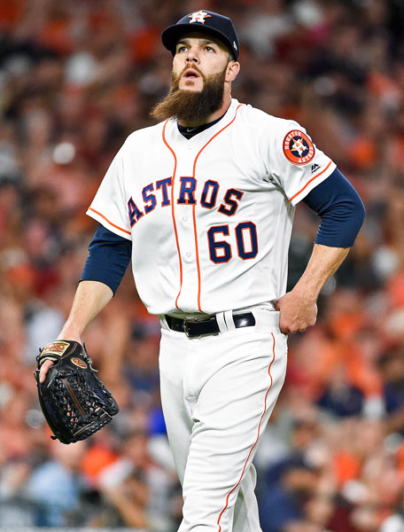 <div class='meta'><div class='origin-logo' data-origin='none'></div><span class='caption-text' data-credit='AP Photo/Eric Christian Smith'>Houston Astros starting pitcher Dallas Keuchel walks to the dugout after finishing the top of the fifth inning of a baseball game against the Seattle Mariners.</span></div>