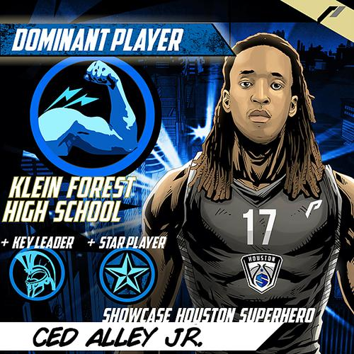 <div class='meta'><div class='origin-logo' data-origin='none'></div><span class='caption-text' data-credit='Showcase Houston'>Meet Ced Alley Junior of Klein Forest High School.</span></div>