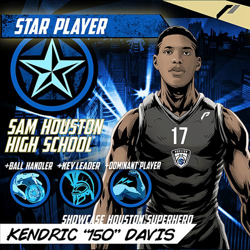 <div class='meta'><div class='origin-logo' data-origin='none'></div><span class='caption-text' data-credit='Showcase Houston'>Meet Kendric 'Iso' Davis of Sam Houston High School.</span></div>