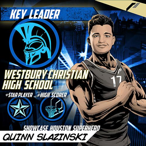 <div class='meta'><div class='origin-logo' data-origin='none'></div><span class='caption-text' data-credit='Showcase Houston'>Meet Quinn Slazinski of Westbury Christian School.</span></div>