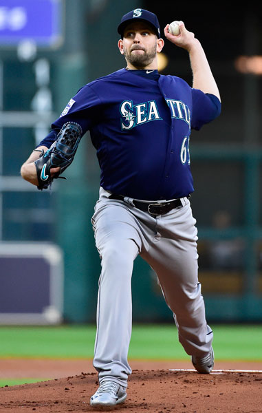 <div class='meta'><div class='origin-logo' data-origin='none'></div><span class='caption-text' data-credit='AP Photo/Eric Christian Smith'>Seattle Mariners starting pitcher James Paxton delivers in the first inning of a baseball game against the Houston Astros, Wednesday, April 5, 2017, in Houston.</span></div>