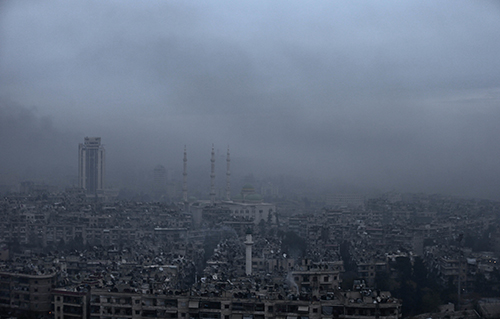 <div class='meta'><div class='origin-logo' data-origin='AP'></div><span class='caption-text' data-credit='AP Photo/Hassan Ammar'>In this picture taken Monday, Dec. 5, 2016, smoke rises in a east Aleppo neighborhood during a battle between forces loyal to Syrian President Bashar Assad and rebels</span></div>