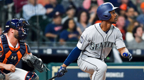 "<div class=""meta image-caption""><div class=""origin-logo origin-image none""><span>none</span></div><span class=""caption-text"">Seattle Mariners' Jarrod Dyson watches his go-ahead RBI single in the ninth inning of the team's baseball game against the Houston Astros, Thursday, April 6, 2017, in Houston. (AP Photo/Eric Christian Smith)</span></div>"
