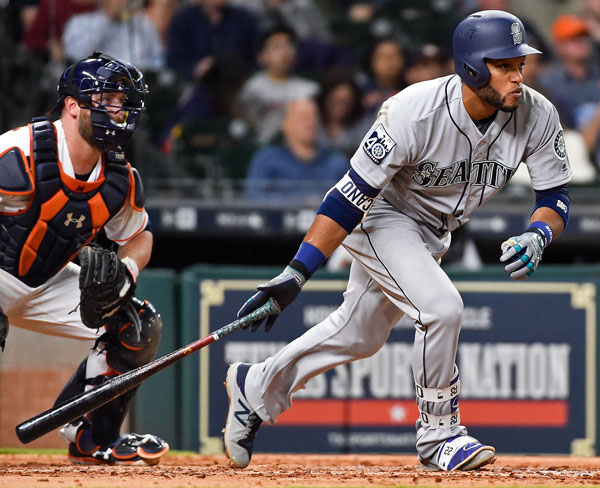 "<div class=""meta image-caption""><div class=""origin-logo origin-image none""><span>none</span></div><span class=""caption-text"">Seattle Mariners' Robinson Cano runs to first after hitting a single during the sixth inning of a baseball game against the Houston Astros, Thursday, April 6, 2017, in Houston. (AP Photo/Eric Christian Smith)</span></div>"