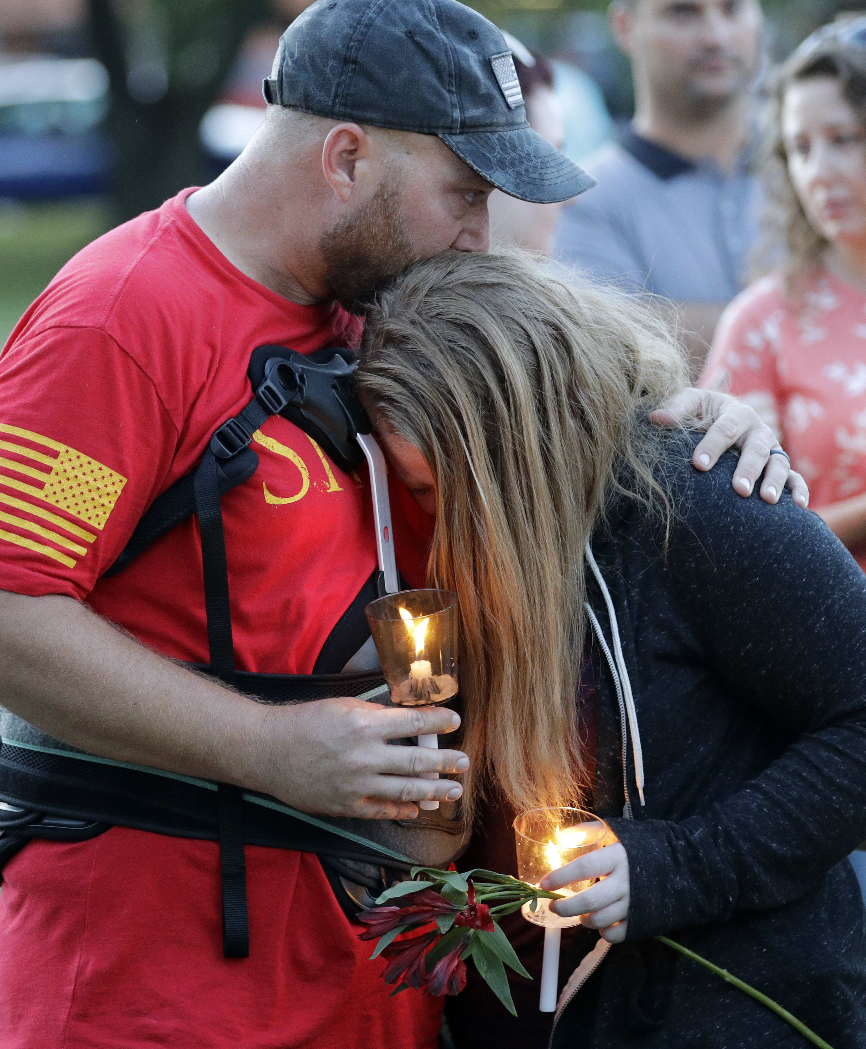 Santa Fe Comforted In Grief During Vigil For Shooting