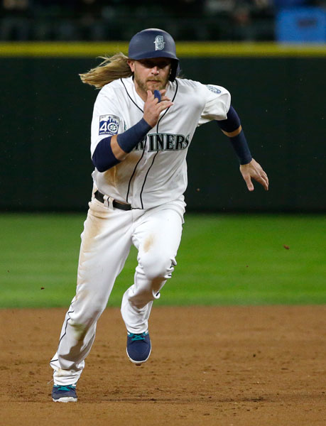 <div class='meta'><div class='origin-logo' data-origin='none'></div><span class='caption-text' data-credit='AP Photo/Ted S. Warren'>Seattle Mariners outfieler Taylor Motter runs to third base during a baseball game against the Houston Astros, Tuesday, April 11, 2017, in Seattle.</span></div>