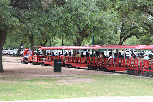 <div class='meta'><div class='origin-logo' data-origin='KTRK'></div><span class='caption-text' data-credit='Danny Clemens'>Visitors can take a ride around the park on a two-mile railroad.</span></div>