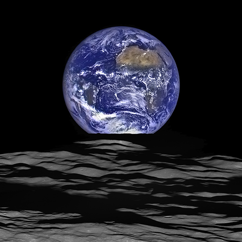 <div class='meta'><div class='origin-logo' data-origin='none'></div><span class='caption-text' data-credit='NASA'>NASA's Lunar Reconnaissance Orbiter's view of Earth from the spacecraft's vantage point in orbit around the moon.</span></div>