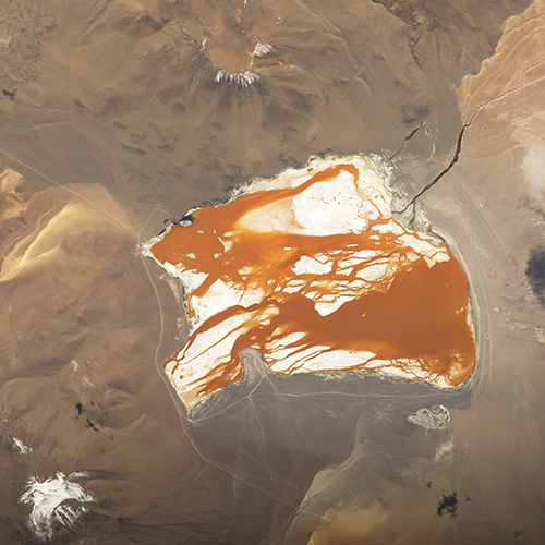 <div class='meta'><div class='origin-logo' data-origin='none'></div><span class='caption-text' data-credit='NASA'>The brightly colored Laguna Colorada, unique in this part of the Bolivian Andes Mountains.</span></div>