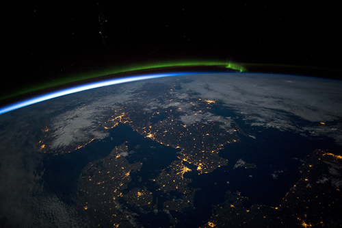 "<div class=""meta image-caption""><div class=""origin-logo origin-image none""><span>none</span></div><span class=""caption-text"">Southern Scandinavia just before midnight under a full moon. (NASA)</span></div>"