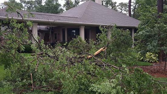 <div class='meta'><div class='origin-logo' data-origin='KTRK'></div><span class='caption-text' data-credit='Viewer-submitted photo'>Damage seen across southeast Texas after severe storms swept through.</span></div>