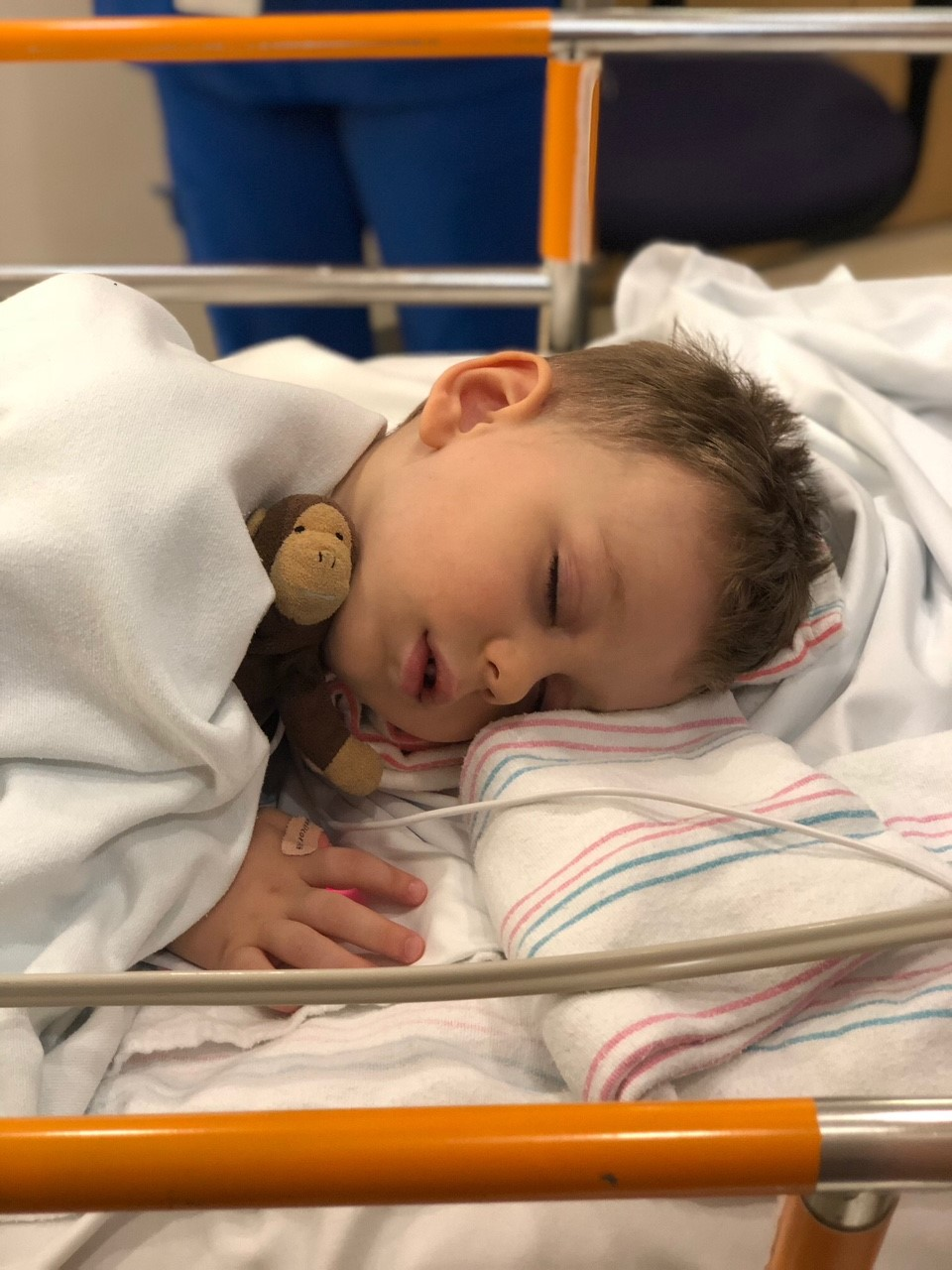 <div class='meta'><div class='origin-logo' data-origin='none'></div><span class='caption-text' data-credit='Daniels family photo'>Right after a biopsy of the mass, which confirmed it was malignant, a neuroblastoma was found on Henry's spinal columns, affecting his sympathetic nervous system.</span></div>