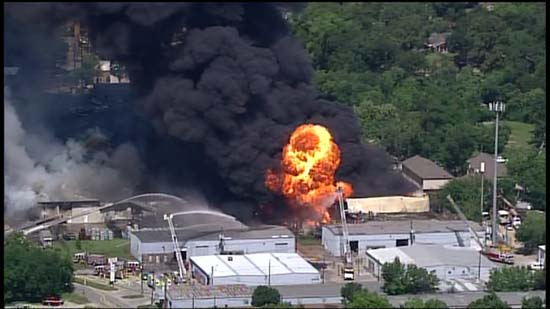 <div class='meta'><div class='origin-logo' data-origin='KTRK'></div><span class='caption-text' data-credit='KTRK'>Explosions seen at a Spring Branch warehouse complex where a four-alarm fire ripped through the structure</span></div>