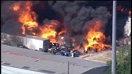 <div class='meta'><div class='origin-logo' data-origin='KTRK'></div><span class='caption-text' data-credit='KTRK'>Aerial images over a massive industrial fire in Spring Branch</span></div>