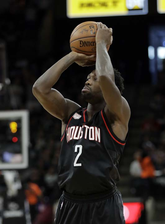 "<div class=""meta image-caption""><div class=""origin-logo origin-image ap""><span>AP</span></div><span class=""caption-text"">Houston Rockets' Patrick Beverley (2) attempts a shot during the first half in Game 5. (AP Photo/Eric Gay) (AP)</span></div>"