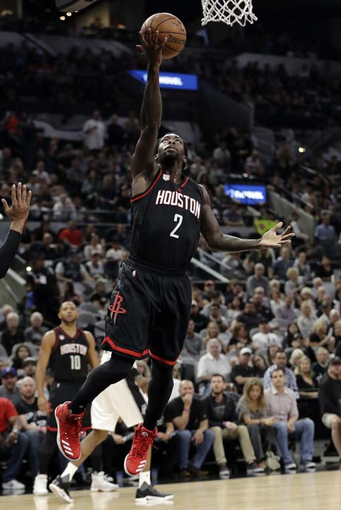 "<div class=""meta image-caption""><div class=""origin-logo origin-image ap""><span>AP</span></div><span class=""caption-text"">Houston Rockets guard Patrick Beverley (2) goes up for a shot during the first half in Game 5. (AP Photo/Eric Gay) (AP)</span></div>"