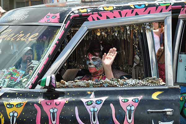 Art cars of all shapes, sizes and designs took to the streets in the Houston Art Car Parade, Saturday, May 10, 2014 <span class=meta>KTRK Photo</span>