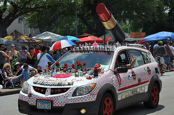 <div class='meta'><div class='origin-logo' data-origin='none'></div><span class='caption-text' data-credit='KTRK Photo'>Art cars of all shapes, sizes and designs took to the streets in the Houston Art Car Parade, Saturday, May 10, 2014</span></div>