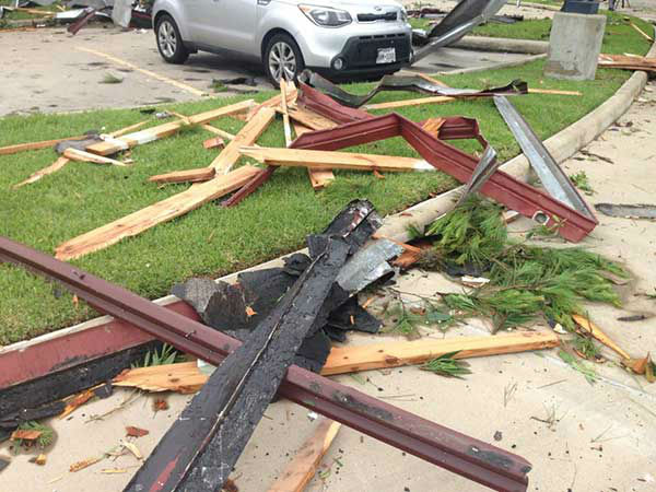 <div class='meta'><div class='origin-logo' data-origin='none'></div><span class='caption-text' data-credit='KTRK Photo/Steve Campion'>A view of the damage in southwest Houston after severe weather hit the area.</span></div>