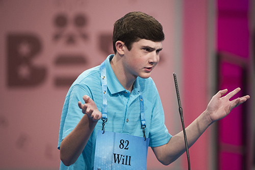 """<div class=""""meta image-caption""""><div class=""""origin-logo origin-image ap""""><span>AP</span></div><span class=""""caption-text"""">Will Lourcey of Fort Worth, Texas correctly spells his word during the 90th Scripps National Spelling Bee in Oxon Hill, Md., Wednesday, May 31, 2017. (AP Photo/Cliff Owen)</span></div>"""